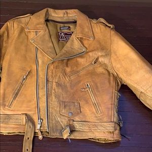 Men's Distressed Thinsulate Leather Jacket